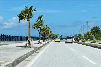 ○道路の下地として再利用