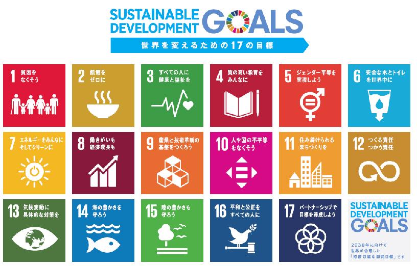SUSTAINABLE DEVELOPMENT GOALS 世界を変えるための17の目標